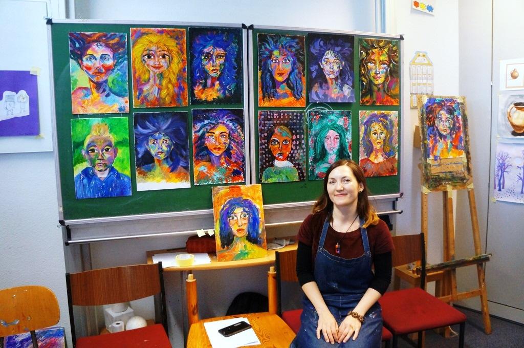 Мастер-класс с Катариной Валеевой: Портрет в стиле АРТ-МОДЕРН, ноябрь 2018