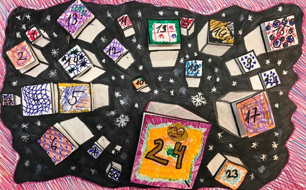 Рождественские календари учащихся студии ИЗО, Декабрь 2019