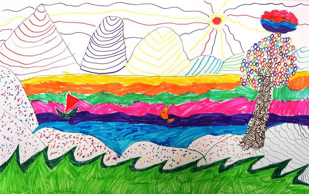 Рисуем пестрые сказочные ландшафты